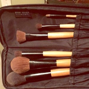 Bobbi Brown brushes with zip up brush case
